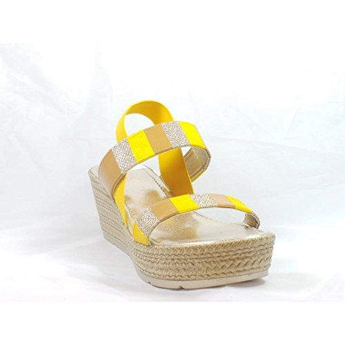 Lotus - Sandalias de vestir para mujer amarillo amarillo