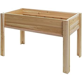 All Things Cedar RGL 34 Raised Cedar Garden Box On Legs, 4u0027