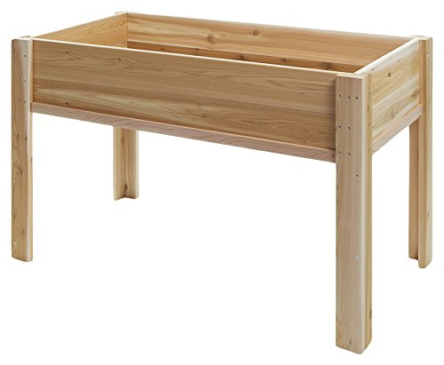 All Things Cedar RGL-34 Raised Cedar Garden Box on Legs, 4' by All Things Cedar