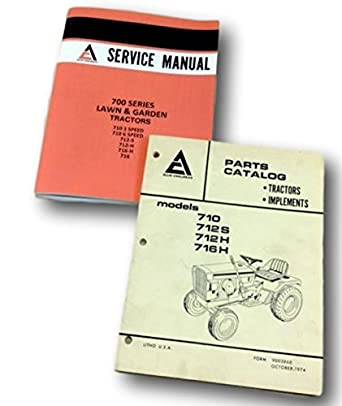 amazon com lot allis chalmers 700 series parts catalog service rh amazon com Allis Chalmers CA Allis Chalmers WD45