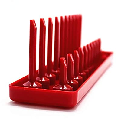 6PCS Socket Organizer Tray Set, Red SAE & Black Metric Socket Storage Trays, 1/4-Inch, 3/8-Inch & 1/2-Inch Drive Deep and Shadow Socket Holders for Toolboxes: Home Improvement
