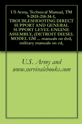 US Army, Technical Manual, TM 9-2815-214-34-1, TROUBLESHOOTING DIRECT SUPPORT AND GENERAL SUPPORT LEVEL ENGINE ASSEMBLY, (DETROIT DIESEL MODEL GM 3-53), ... manuals on dvd, military manuals on -