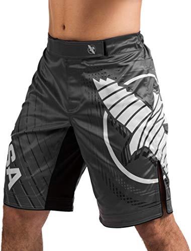 Hayabusa Chikara 4 Fight Shorts for Men Grey Medium MMA Combat Sports Kickboxing Jiu Jitsu BJJ