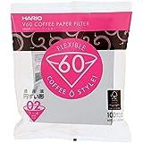 Filtro de Papel para Coador de Café V60, Tamanho 02, Pacote com 100 Hario 0 Branco