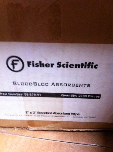 Fisherbrand BloodBloc Biohazard Wipes, Standard Absorbency, 3 x 3 in.