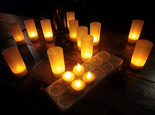 Rechargeable Flickering Led Candle Lights in US - 9