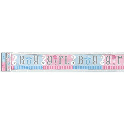 12ft Foil Gender Reveal Banner ()