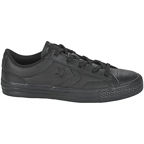 Converse Mens Star Player Ox Black Leather Trainers 7 US