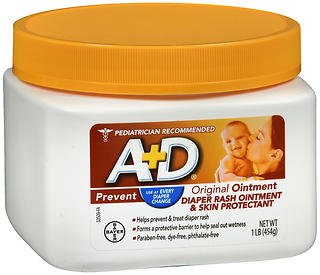 A+D Diaper Rash Ointment & Skin Protectant Original - 16 oz, Pack of 4 by A&D