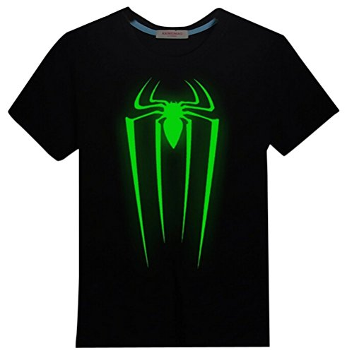 Adult Men's Super Hero Spiderman Luminous Casual Cotton T-Shirt