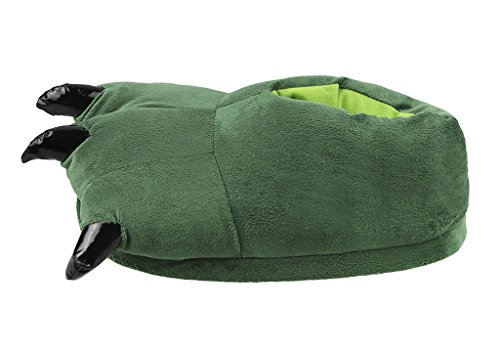 Animal Soft Home Claw Shoes Halloween Party Adult Slippers Unisex Costume Fuzzy Green Dark 05wRq0H