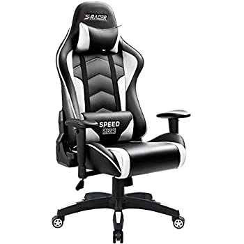 Homall Gaming Chair High Back Computer Chair Racing Style Office Chair Embossing Design Pu Leather Bucket Seat Desk Chair with Adjustable Armrest Ergonomic ...