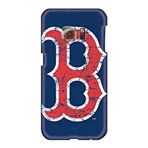 Shock-Absorbing Hard Phone Covers For Samsung Galaxy S6 (fNu1556nBYa) Provide Private Custom Nice Boston Red Sox Image