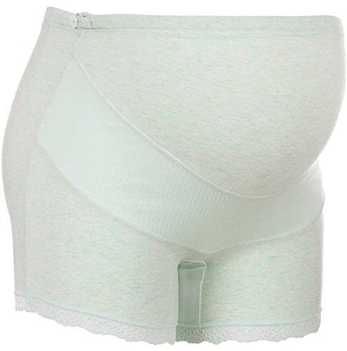Unilove Cotton Maternity Underwear Shorts Seamless Pregnancy Panties High Cut (S/M,Green) (Panties High Cut Maternity)