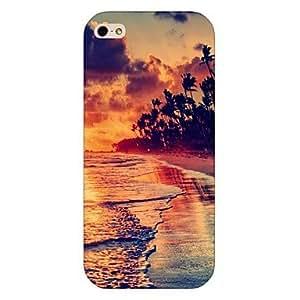 SHOUJIKE Setting Sun Pattern Back Case for iPhone5/5S