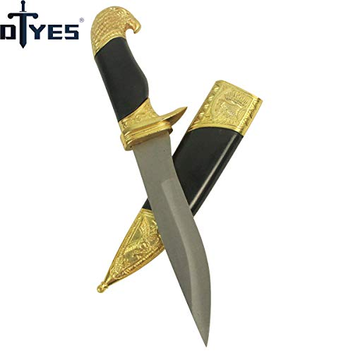 DTYES Beautiful Home Decoration Littlel Sword (Little Eagle Dagger(Gold))