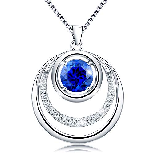 Jewlpire ♥Supreme Series♥ Woman Silver Necklace Cubic Zirconia Diamond Necklace Pendant for Mum - The Closest Gift to The Heart (Heart of The Sea) ()