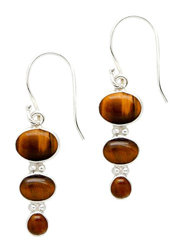 Crystal Drop OVAL Earrings Sterling Silver 1.5
