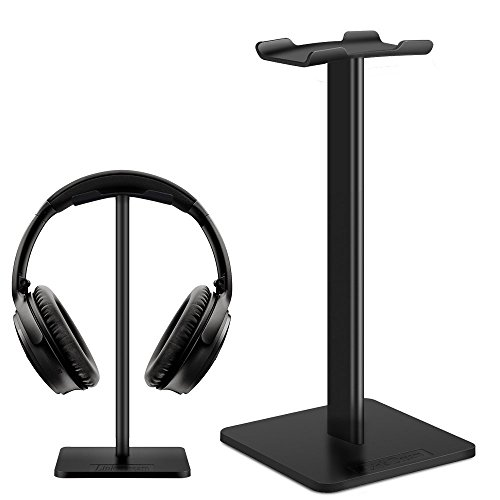 er Link Dream Earphone Mount Gaming headset holder with Aluminum Supporting Bar Silicone Headrest - Black (Nice Holder)