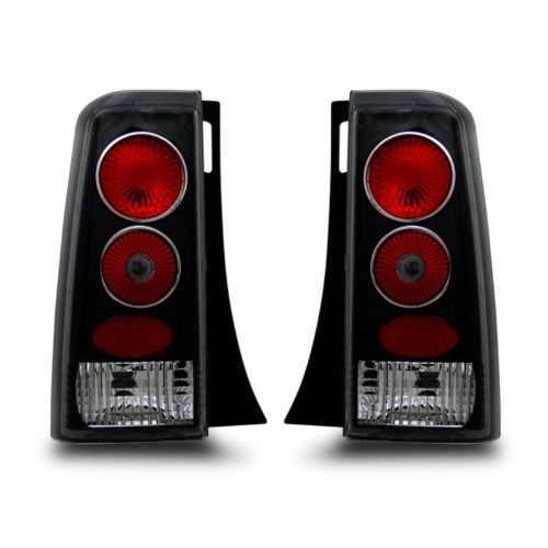 (SPPC Taillights Black Assembly Set For Scion Xb - (Pair) Driver Left and Passenger Right Side Replacement)