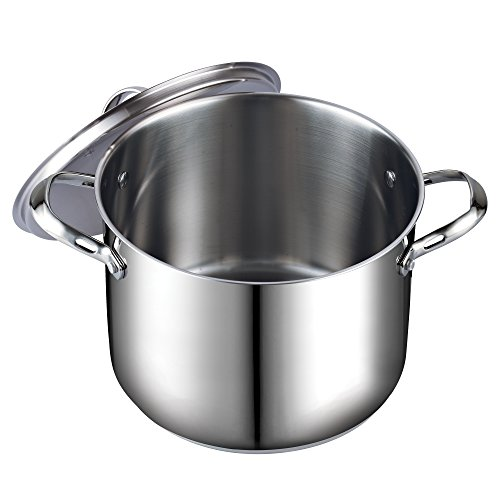 Buy stainless stock pots with lids