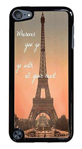 Popular Eiffel Tower Travel Hardshell Phone Case for iPod Touch 5G