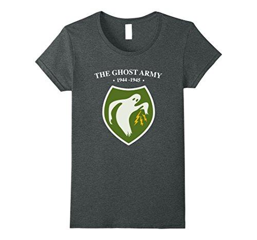 Womens The Ghost Army 1944-1945 WW2 Shirt Medium Dark (Female Ghost)