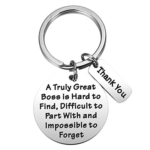 MIXJOY Boss Retirement Gift A Truly Great Boss is Hard to Find Keychain for Bosses Day Leaving Moving Appreciation