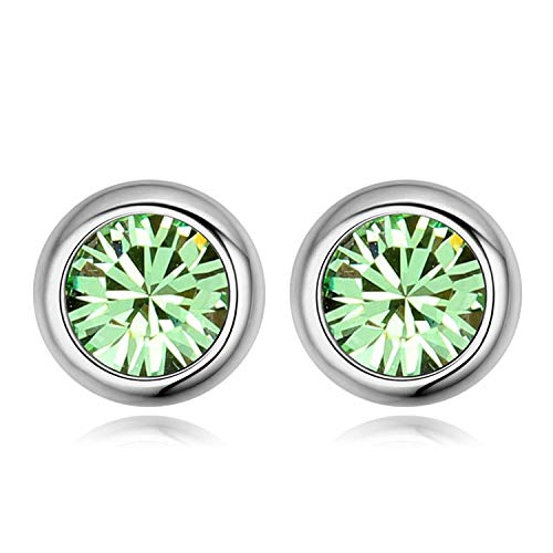 a2651fbdd Image Unavailable. Image not available for. Color: from Swarovski Fashion  Round Stud Earrings Brincos Jewellery Bijoux Gold Color Earrings for Women  Man
