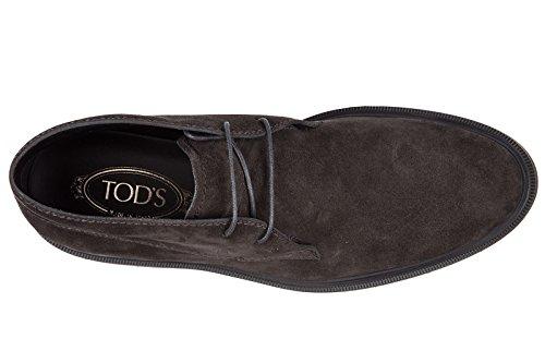Tods Wildleder Schnürboots Stiefeletten Herren Boots polacco fondo Gummi Grau