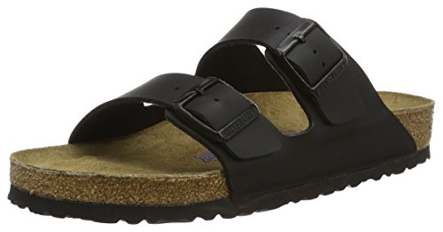Birkenstock BIRK-51793 Arizona Sandals, Black, 38 EU Regular by Birkenstock