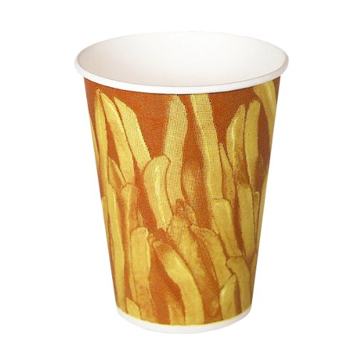 Solo GRS9N-00021 Claycoat Paper French Fry Cup, 9 oz. Cap...