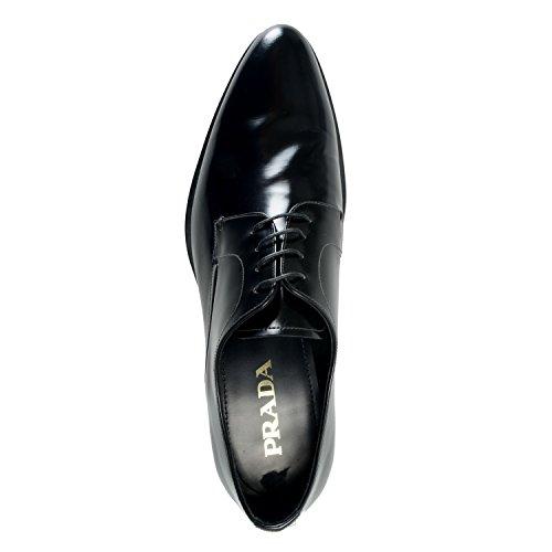 Prada Hombres Zapatos De Oxford De Cuero Negro Pulido Us 10 It 9 Eu 43