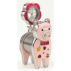 Spring Pig Table Clock