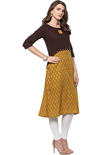 Janasya Tunique Indienne En Tête Kurti En Coton Pour Les Femmes
