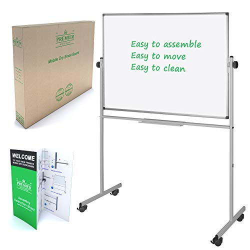 36 x 48 Rolling White Board - Dry Erase Board with Stand - Portable Whiteboard