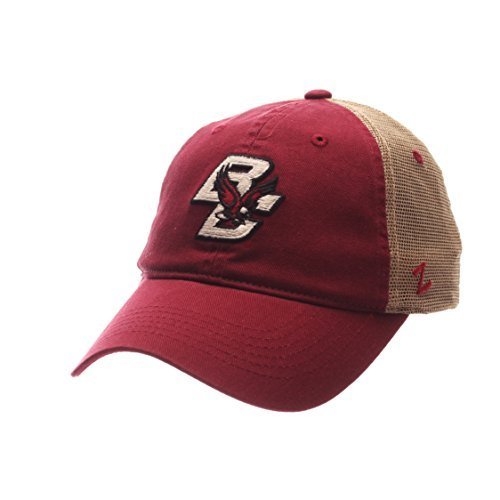 Zephyr NCAA Boston College Eagles Adult Men University Relaxed Cap, Adjustable, Team Color/Stone