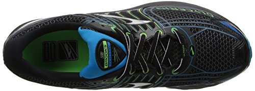 Brooks Glycerin 12 Men's Running Shoes Black/Green Gecko/Atomic Blue edPQzt
