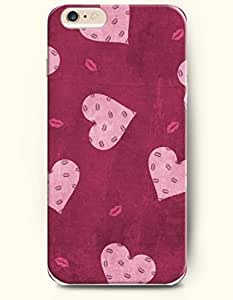 OOFIT Apple iPhone 6 Case 4.7 Inches - Hearts and Pink Lips