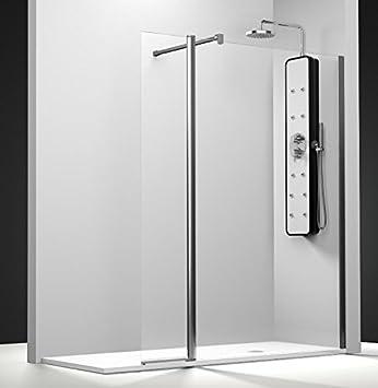 Mampara de ducha Serie Bo con 1 panel fijo y un contraventana ...