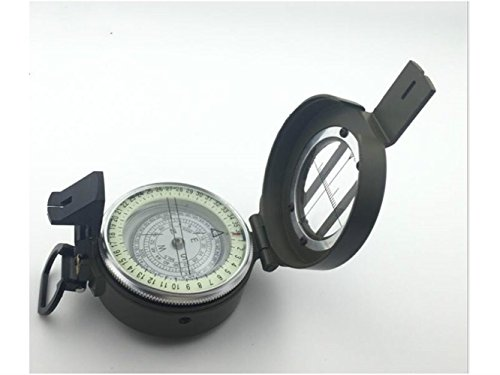Yuchoi Solid Compass Multifunction Compass for Camping Outdoor Navigation Tools Compass with Luminous (Army Green) by Yuchoi