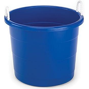 homz plastic utility tub with rope handles 17 gallon cobalt blue set of 2 home. Black Bedroom Furniture Sets. Home Design Ideas