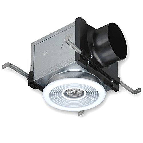 Fantech PBH4 7'' Ceiling Grille and Housing with Dimmable 50W Halogen Light, Uses 4'' Duct