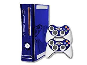 Microsoft Xbox 360 Skin (1st Gen) - NEW - BLUE CHROME MIRROR system skins faceplate decal mod
