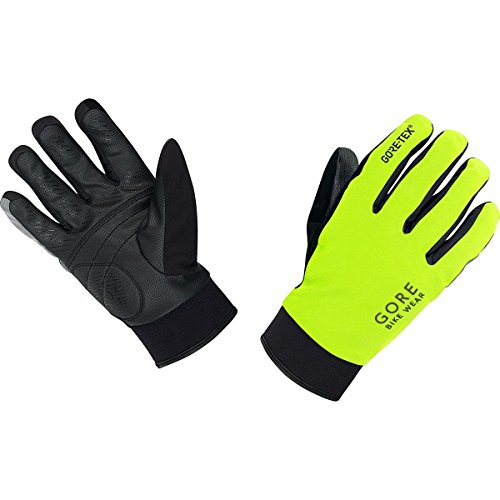 GORE BIKE Wear Herren Thermo-Regen-Fahrradhandschuhe, GORE-TEX, UNIVERSAL GT Thermo Gloves, Größe 7, Neon Gelb/Schwarz, GCOUNW