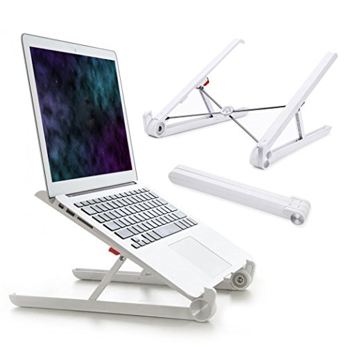 Laptop Stand Adjustable Ventilated Cord (Portable Laptop Stand Foldable Adjustable Notebook Holder Eye-Level Ergonomic Lightweight Compact Universal Fit for PC Macbook Computer)