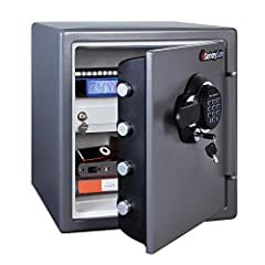 The SentrySafe SFW123GDC Fireproof Safe and Waterproof Safe has a backlit keypad and interior lighting to make it easy to access your valuables in the dark. With UL Classified fire protection and ETL Verified for your important documents, dig...