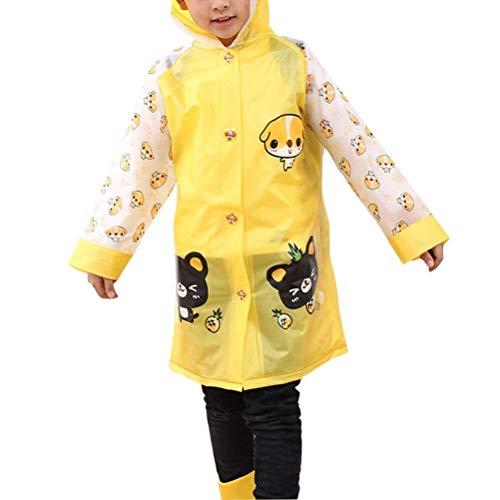 Prueba De Inflable Poncho Mode Impermeable Marca Con Sombrero Los Respirable Bolawoo Amarillo La A Reflexivo Cabritos Raya Y El Mochila Viento Chubasquero Tqn5pwF