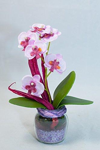 Tischgesteck Mit Rosa Lila Orchidee Im Glas Tischdeko Mit