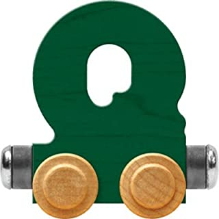product image for Maple Landmark NameTrain Bright Letter Car Q - Made in USA (Green)